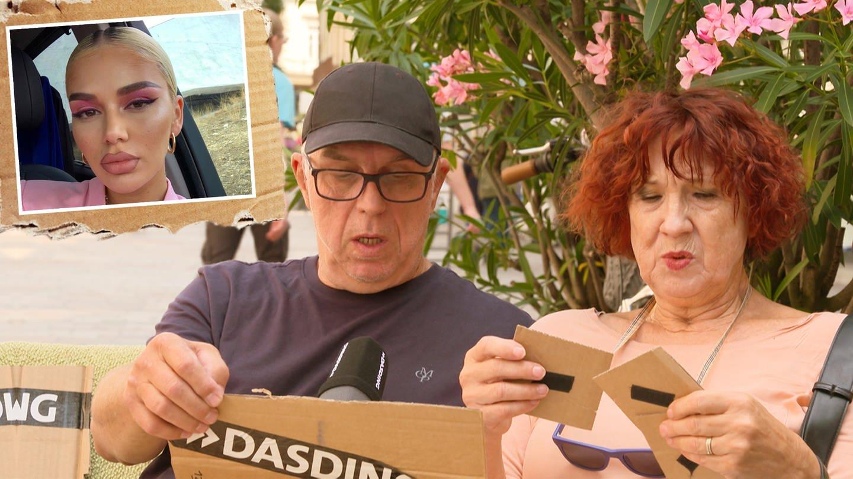 Ältere Menschen in der Fußgängerzone bei Quiz über Rapperin Loredana (Foto: DASDING)