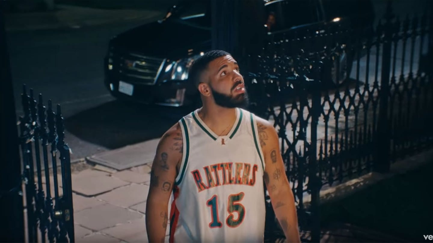 Drake in seinem Video