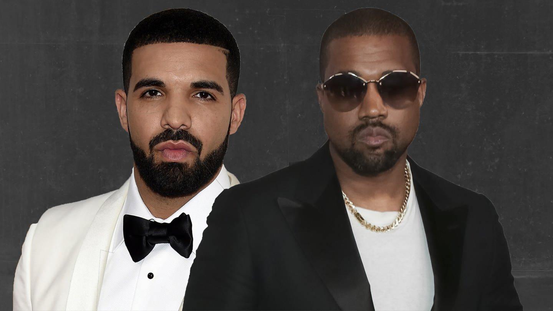 Kanye West und Drake, beide mit eher bösem Gesichtsausdruck (Foto: picture-alliance / dpa)