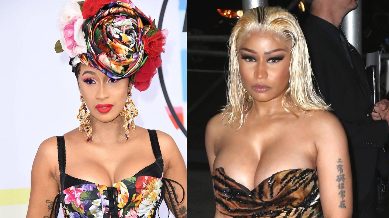 Cardi B und Nicki Minaj (Foto: Imago, Starface/Omid Davarian)