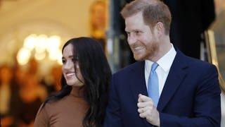 Prinz Harry und Meghan (Foto: picture-alliance / Reportdienste, AP Photo)