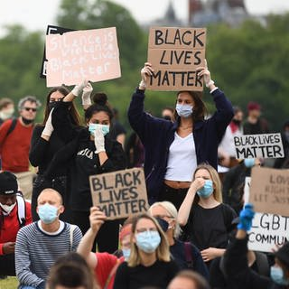 Black Lives Matter-Bewegung (Foto: dpa Bildfunk, picture alliance/Victoria Jones/PA Wire/dpa)