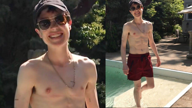 Elliot Page postet Foto auf Instagram in Badehose